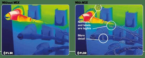 FLIR T420 MSX image blending
